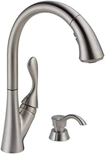 Delta 19922Z-SSSD-DST Ashton Stainless 1-Handle Deck Mount Pull-Down ShieldSpray Kitchen Faucet