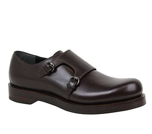Gucci Horsebit Buckle Monk-Strap Brown Leather Dress Shoes 358272 2145 (8.5 G / 9.5 US)