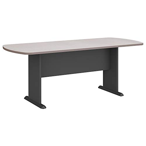 (Bush Business Furniture Series A & C 79W x 34D Racetrack Oval Conference Table in Pewter)
