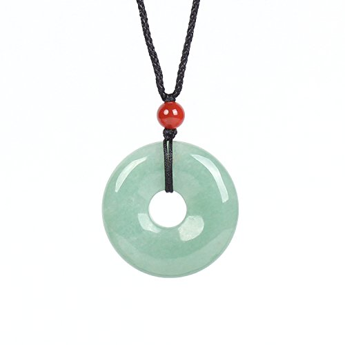 MATT HANN Rainbow Eye Obsidian Safty Circle Pendant Original Handmade Grouding Stone Protection (Green A) Eye Circle Pendant