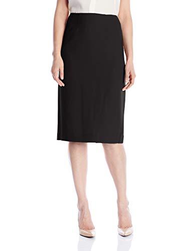 Kasper Women's Stretch Crepe Skimmer Skirt, Black, 18