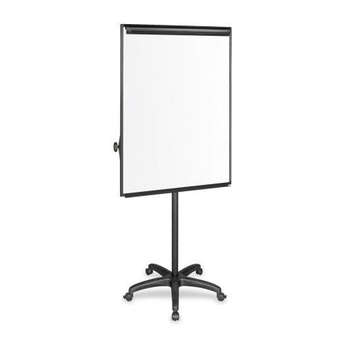Bi-silque Mobile Presentation Easel - 32'' x 46'' - Aluminum Frame - Platinum, Silver, Black by Bi-silque