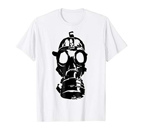 Halloween Gift T Shirt - Scary Gas Mask ()