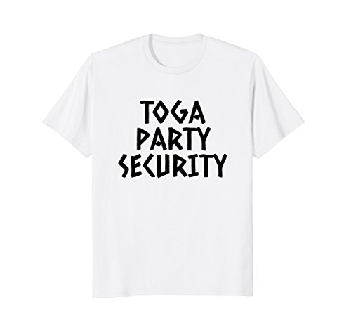 Toga Party Security Shirt, Toga Party Costume, Frat Shirts