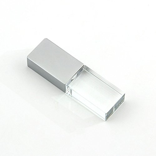CHUYI Glass Crystal Shape 16GB USB 2.0 Flash Drive LED Pen Drive Memory Stick Thumb Drive Waterproof Jump Drive U Disk Gift (Champagne) (Best Year For Cristal Champagne)