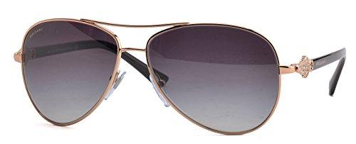 Bvlgari 6073B 376/8G Gold 6073B Aviator Sunglasses Lens - Bvlgari Mens Sunglasses
