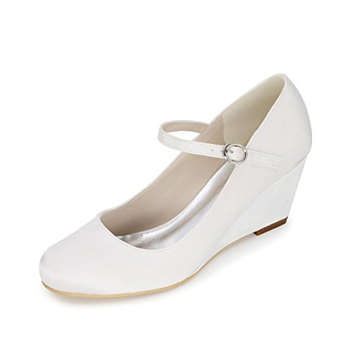 P White Ivory Slope YC Multicolor 02 Customized White Wedding Women's Wedding Clothes 9140 Heels L High wx4pnq5q1