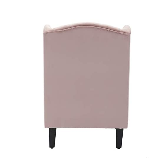 """Artechworks Velvet Tufted High Back Accent Chair for Living Room, Bedroom, Home Office, Hosting Room, Wingback Club Chair, Pink Color - CLASSIC STYLE: Crafted of solid and manufactured wood, and upholstered with a Velvet. The high wingback club design is a perfect addition for any room in your home. The tufting and curved sides add charm to the overall design. SIZE:Seat Width: 19.7""""; Seat Depth: 21.3""""; Seat Height: 18.9""""; Arm Height: 24"""". Overall Dimension: 31.1""""(L) x 31.1""""(W) x 38.2""""(H) LIVING ROOM & MORE: Our wingback chair is the perfect addition to any house or apartment. Use it in your TV room, office, dining room, or bedroom. - living-room-furniture, living-room, accent-chairs - 31kWUQOwERL. SS570  -"""