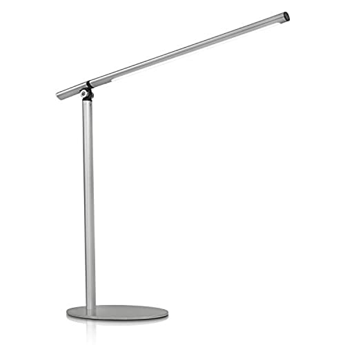 Stainless steel table lamp amazon turcom led desk lamp for reading studying or relaxing fully adjustable neck 350 lumen stainless steel silver ts 7002 aloadofball Image collections