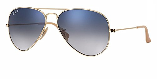 Ray Ban RB3025 001/78 58M Gold/ Polarized Blue Gradient - Ray Gold Gradient Ban Blue