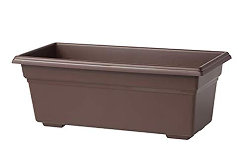 Countryside Flower Box Planter, Brown, 36-Inch ()