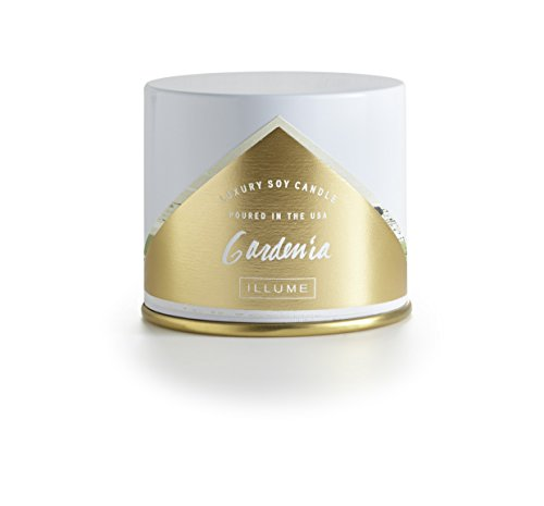 Illume - Luxury Soy Candle Gardenia Vanity Tin Gardenia Soy Candle