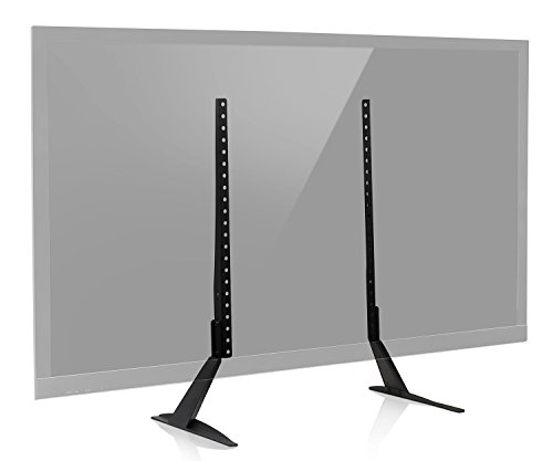Mount-It! Universal TV Stand Base Replacement, Table top Pedestal Mount Fits 32 37 40 42 47 50 55 60 inch LCD LED PLASMA TVs, 110 Lb Capacity (MI-848) (50 Lcd Tv Stand)
