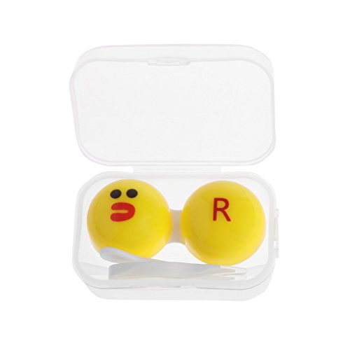 Hukai Travel Portable Transparent Nursing Contact Lenses Liquid Bottle Accessories - Virtual Eyeglasses Mirror