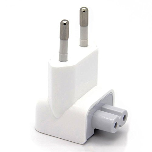 PRLANYDAR US to Europe Plug Converter Travel Charger Adapter for Apple Macbook/iPad/iPhone/iPod