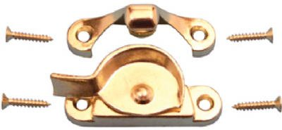 Prime Line Products 171117 Widow Sash Lock With Keeper, Brass Finish - Quantity 6