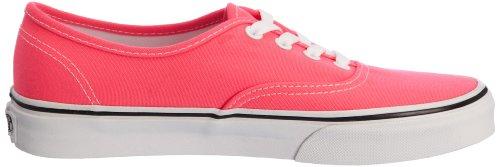 Vans Authentic (Neon) Pink/True White, Women's Low-top Pink/True White