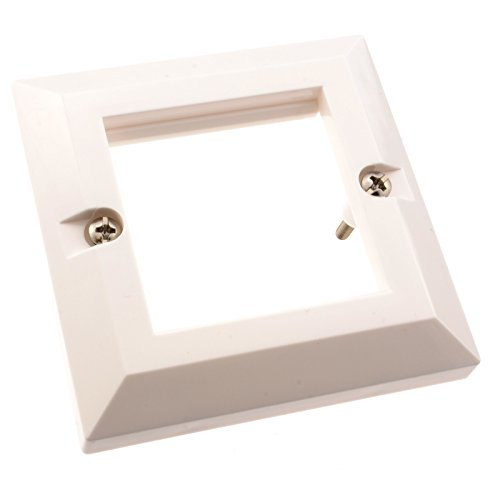 kenable Wall Mount Faceplate 85 x 85mm Bevelled Single Gang for 2 x Modules (Power Module Wall Mount Type)