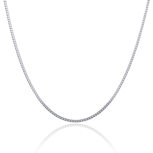 [316L Stainless Steel 2.5 MM Box Chain 20 Inch] (316 Steel Necklace)
