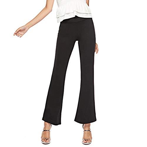 Yucode - Pantalones largos para mujer, diseño de cuerno de ...