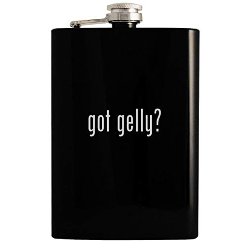 got gelly? - 8oz Hip Drinking Alcohol Flask, Black