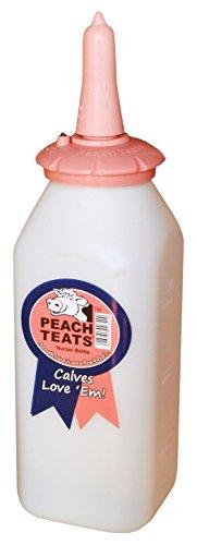 (Peach Teats Standard Nursing Bottle Complete, Pink)