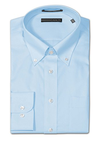 Damon Big and Tall Ultra Pinpoint Dress Shirt - Teal (36-37 18.5
