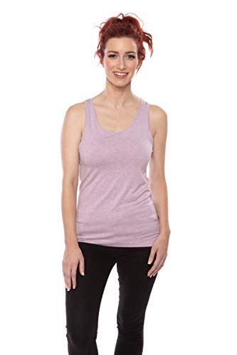 Women's Moisture Wicking Tank Top - Classic Layering Tops by Texere (Mesatee, Heather Lilac, Large) Sleepwear Top TX-WB116-002-21P1-R-L