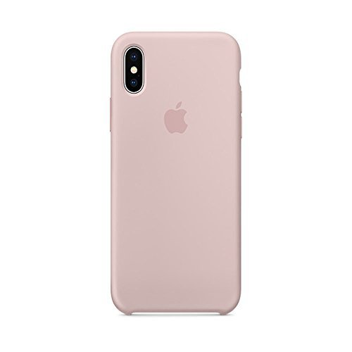 Soft Liquid Silicone iPhone X Case, Keklle Liquid Silicone Gel Rubber Shockproof Case and Ultra Soft Microfiber Cloth Lining Cushion for iPhone X/10 (Pink ()