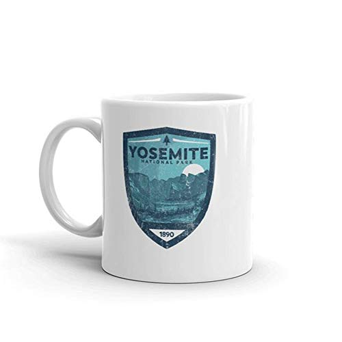 Retro Yosemite National Park - Yosemite Valley Mug -11oz Ceramic Coffee Novelty Mug/Tea Cup, High Gloss