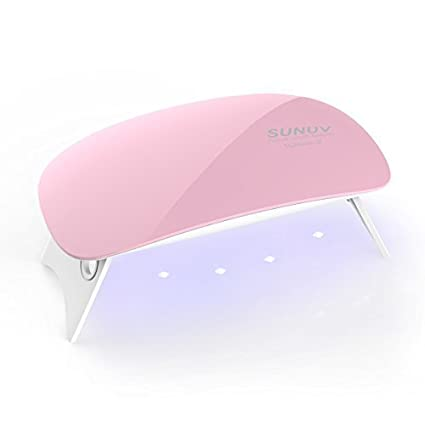 SUNUV SUNmini 6W LED Lampara Uñas UV Secador de Uñas para Unas de ...
