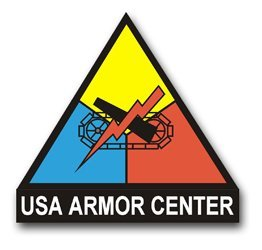 (United States Army Armor Center Unit Crest Decal Sticker 3.8