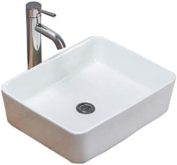 Minmin 洗面台バルコニー洗濯プールバスルーム洗面460x370x105mmの洗面化粧台の家の装飾小さなアパートセラミックスシンプルアート 芸術流域 (Color : A)