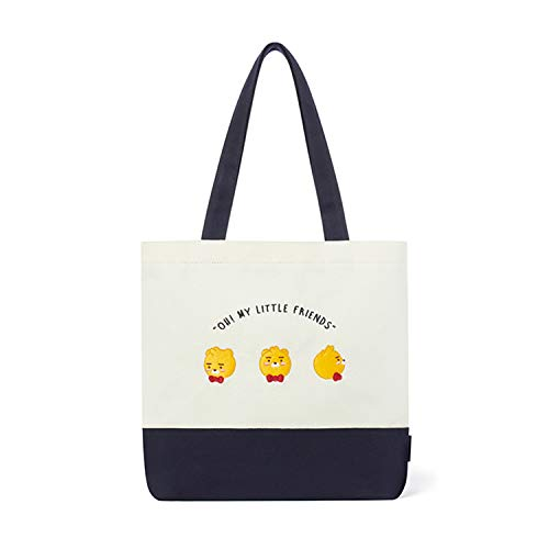 KAKAO FRIENDS Official- Little Friends Basic Eco Tote Bag with Inner Pocket (Ryan)