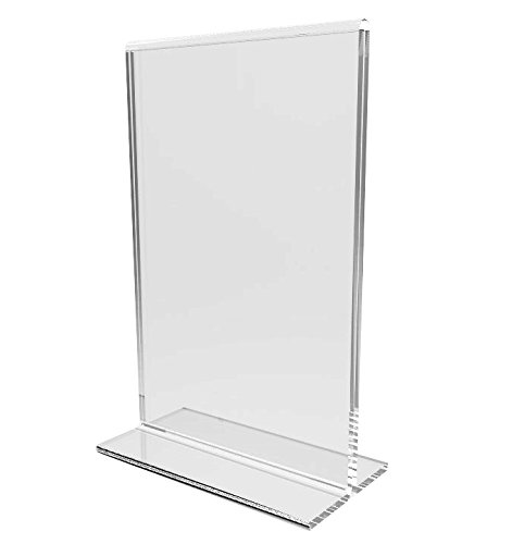 FixtureDisplays 24-Pack Clear Acrylic 4x6'' Table Tent Frame Photo Sign menu Holder Clear 11193-2-24 by FixtureDisplays