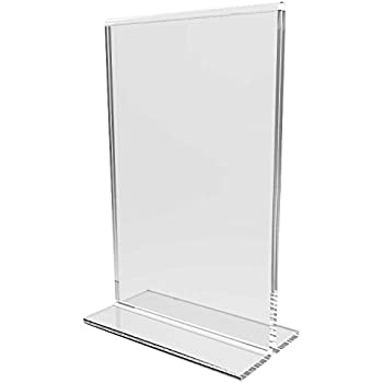 Fixture Displays 24-pack Clear Acrylic 4x6  Table Tent Frame photo sign menu holder  sc 1 st  Amazon.com & Amazon.com : Fixture Displays 6-pack Clear Acrylic 4x6
