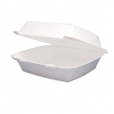Dart Carryout Food Containers,Foam Hinged 1-Compartment,8-3/8x7-7/8x3-1/4,200/Carton