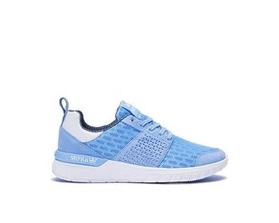new product d1f6f 5c39c Supra Womens Scissor Blue White Shoes Size 5