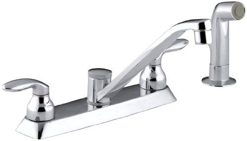 KOHLER K-15253-4-CP Coralais Kitchen Sink Faucet, Polished Chrome