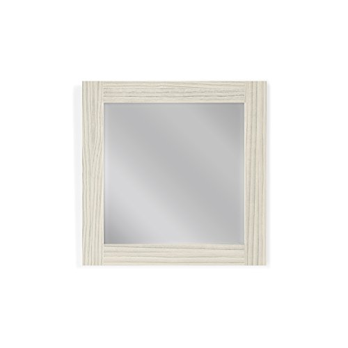 Mirrors2Go Modern Contemporary, Wall Mounted Wood Mirror Frame - Hand made in USA - Décor for Home Bathroom Vanity and Interior Design (5 Sizes, 10 Colors) ( 23x23 Hacienda White ) (Mirror And Wood Nightstand)
