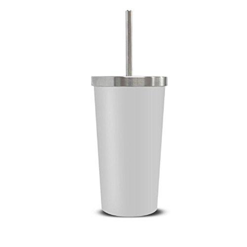 Stent Tumbler 1 + 1 / Design / Light / Straw / Portable / Coffee / Tea / Drink / Effective / Office / Outdoor / Convenient / Storage (BLACK)