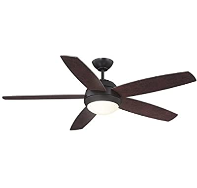 "Trade Winds Lighting TW020293ORB Contemporary 52"" Ceiling Fan w/Light in Oil Rubbed Bronze"