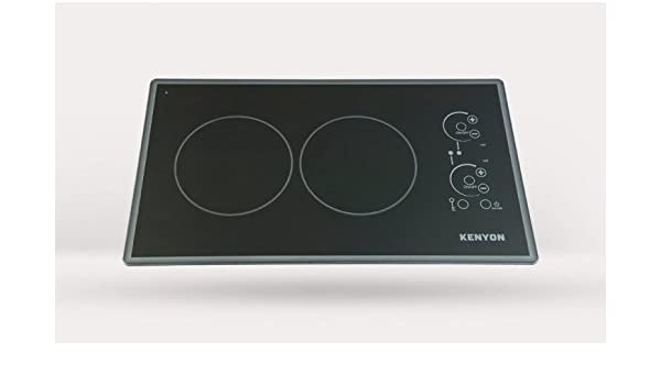Kenyon B49515 6-1//2-Inch Alpine 2-Burner Trimline Cooktop with Analog Control UL 120-volt White