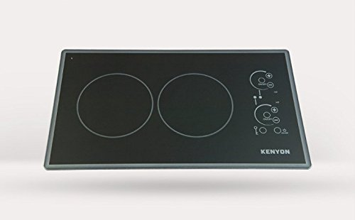 Kenyon B41779 Lite-Touch Q Cortez 2-burner Trimline Cooktop, black with touch control - two 6 .5 inch 208V UL