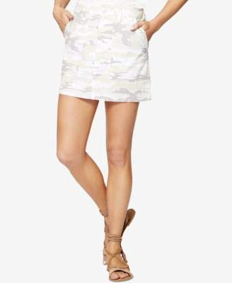 - Sanctuary Women's Skirt with Release Hem White Camo 28