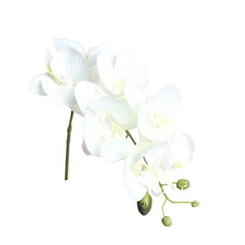 Artificial False Rose Silk Flowers Wedding Garden Decor Decoration White - 7