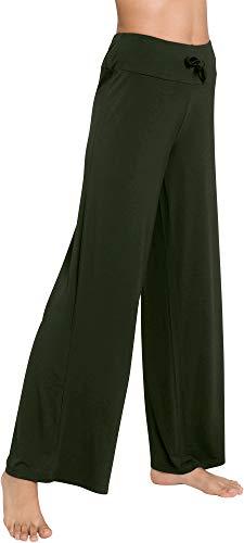 - WiWi Women's Bamboo Wide Leg Sleep Lounge Pants Lightweight Pajama Bottoms Pants S-XXXXL(4XL), Army Green, 3X-Large
