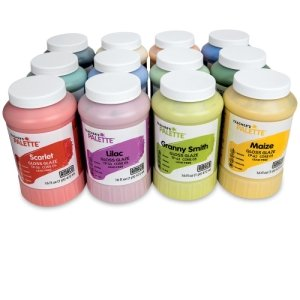 Amaco Teacher's Palette Glaze Classroom Pack 5, Pints, Assorted Colors, Set of 12 by AMACO