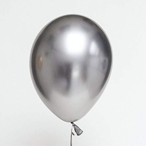 AQANATURE | Ballons & Accessories | 50pcs 12inch Metallic Latex Chrome Gold Balloons Metal Gold Colors Globos Wedding Birthday Party Supplies Balloons ()