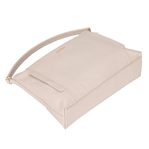 Banuce Hobo Genuine Crossbody Grey Women Leather Work Bag Tote Light Shoulder Handbags Purse waOfwqWnr1